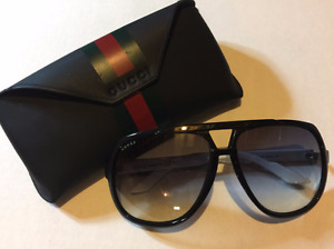 Gucci Large Frame Aviator Sunglasses - Mens
