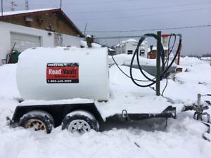 600 gallon Mobile petrolium tank