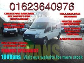 FORD TRANSIT 2.2TDCI LWB CREW VAN WITH 9 SEATS AND REAR AND OVERHEAD STORAGE