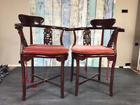 ASIAN CORNER CHAIRS - SET OF TWO