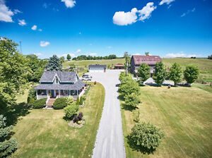 Century House On 66 Acre Horse Farm, Welcome To Mapleloosa Ranch