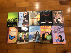 10 teen books in excellent condition!