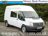 2013 (13) FORD TRANSIT T350 R.W.D LWB HIGH ROOF 9 SEAT CREW VAN / COMBI,125PS