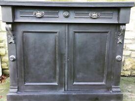 Painted Mahogany Chiffonier Base