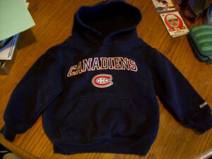 Montreal Canadiens Baby Hoodie, Size 2T