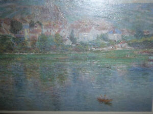 "Claude Monet ""Vetheuil"" Painted 1901 Textured Art Print Stratford Kitchener Area image 5"