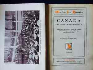 1901 Antique and Rare History Book of Dominion of Canada w/map!