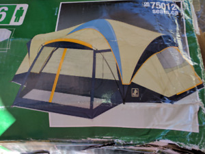 Three bedroom dome tent with screen - good condition