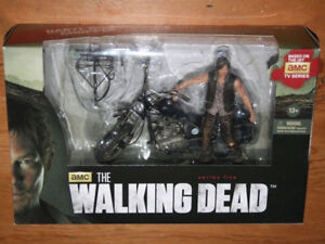 Daryl Dixon action figure with motorcycle