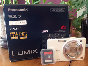 CAMERA LUMIX PANASONIC SZ7 BLANC avec CARTE SD 16 GB