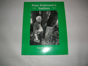 """N.O.S. BOOK, """"PETER ROBINSON 'S  SETTLERS 1823-1825"""
