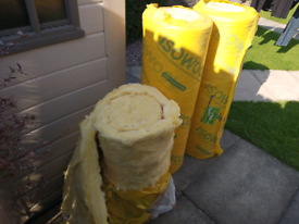 Loft insulation 100mm thick