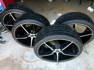 Nitto tires with rims  20 inch
