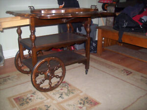 Antique wood Tea Cart