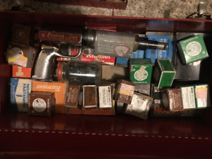 Rusted Piston-Set Gun & Lot of Bullets & Fasteners