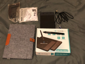 HUION drawing tablet with case and glove