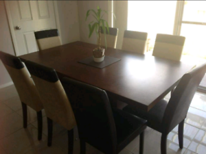 8 seater Dining Table, Chairs & Matching Buffet