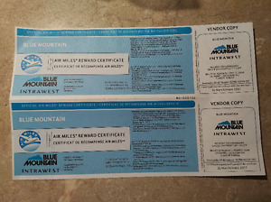 2 Ski Lift Tickets - Blue Mountain