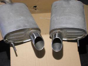Factory Dual Mufflers for 2015 Mustang GT