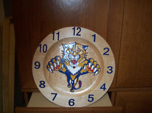 NHL clocks or anything you want on it all maple clock Cornwall Ontario image 2
