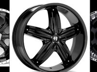 REDUCED!4-HELO 22inch RIMS WITH F-ONE TIRES, $1600