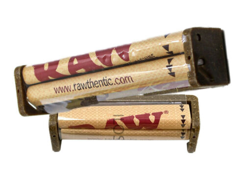 2 RAW ROLLER 79MM 110MM CIGARETTE ROLLING MACHINE HEMP FOR PAPER 1 1/4 KING SIZE