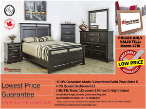 ◆Brand New Canadian-Made Customized Storage Solid Bedroom@NEWD