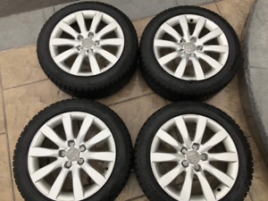Original 2012 Audi A4 wheels with winter tires. $1,000.