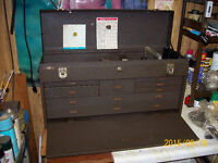 COMPLETE EDM AND TOOL MAKER'S TOOL BOX AND CONTENTS