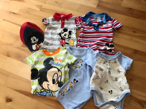 adorable Mickey Mouse clothes bundle - 3-6 months