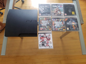 Playstation 3 console with 8 games!