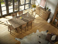 Country Reclaimed Solid Wood Dining Table, FREE Delivery