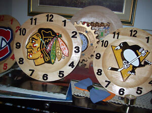 NHL clocks or anything you want on it all maple clock Cornwall Ontario image 3