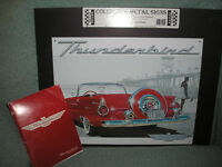 1955 Thunderbird owners manual and metel sign