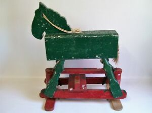 Cheval à Bascule Antique - Antique Rocking Horse