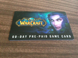 Warcraft pre-paid game card