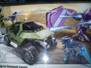 LEGO HALO MEGA BLOKS UNSC GAUSSHOG VS COVENANT LOCUST SET