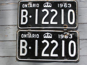 1963 Ontario YOM Year of Manufacture Eligible License Plates