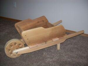 Wheelbarrow Cedar Planter