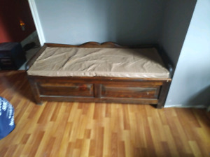 Solid wood Bench with storage $40