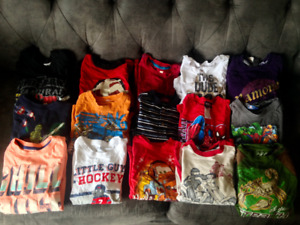 Boys Size 6 Long Sleeve Cotton Tops Plus Others