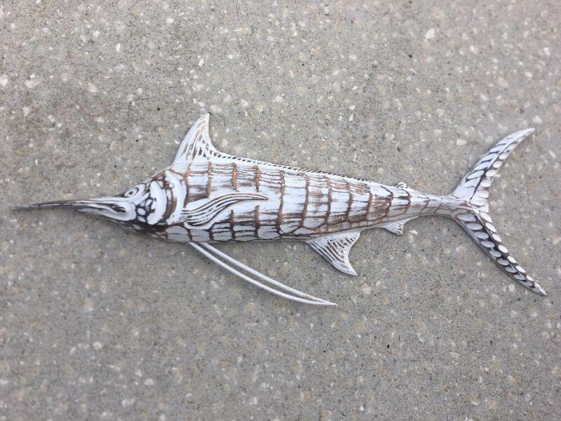 MARLIN OCEAN Fish WALL ART TROPICAL NAUTICAL PATIO TIKI BAR HOME DECOR