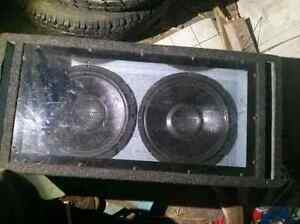 "Ported Sub Box with 12"" Subs and Amp"