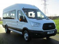 2016 16 FORD TRANSIT 2.2 460 17 SEAT MINIBUS BUS WITH FORD OPTIONS DIESEL