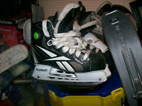 kids hockey helmets,and boy's skates sizes 3,4,4