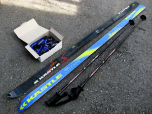 Downhill Skis, Poles and Bindings Never Used