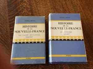 Volumes de Marcel Trudel sur la Nouvelle-France