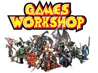 Games workshop, warhammer and flames of war wanted