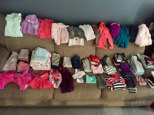 Lot of Girl Clothes 3-24 months  (81  ITEMS)