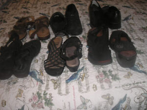 Ladies dress shoes and sandals, size 9 for sale.   $5.00 each pa